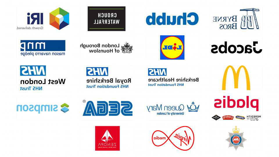 A list of companies we work with including Lidl, McDonald's and SEGA